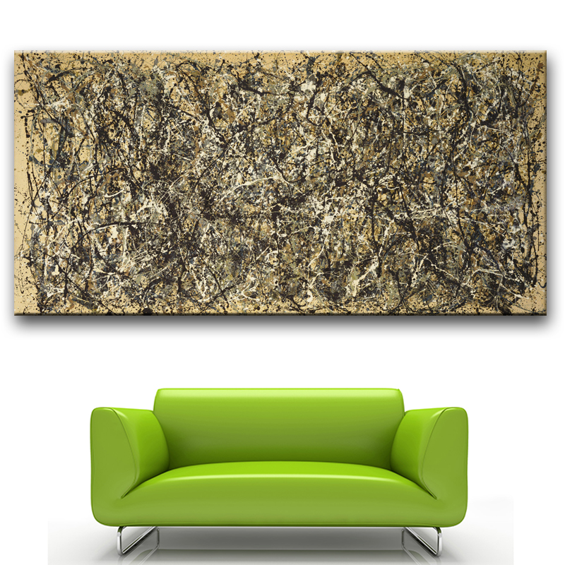 large sizes jackson pollock giel wall painting canvas for wall art