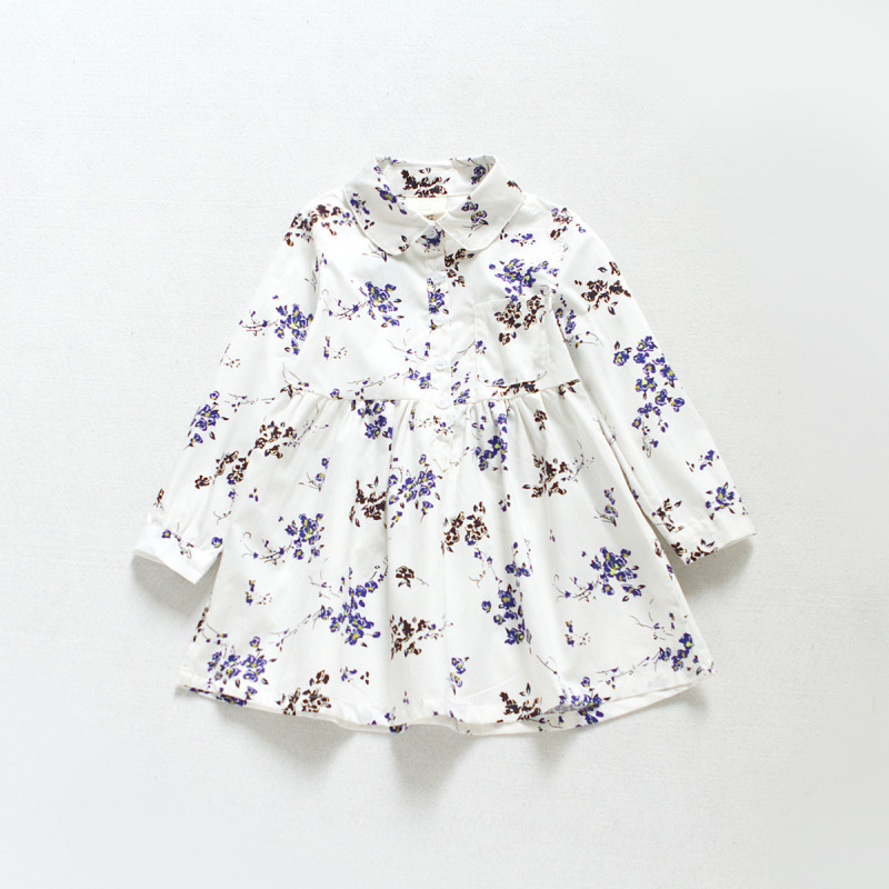 toddler girl dresses 2017 new baby girl dress doll collar floral printed princess costume spring long sleeve shirt dress 2-7T toddler girl dresses 2016 new baby girl dress yellow floral printed princess dress girl long sleeve cute toddler girl dresses