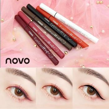 Lápiz Delineador de color Novo lápiz marrón negro impermeable de larga duración líquido superfino mate delineador de ojos pluma BN108