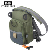 Fly Fishing Chest Waist Pack Lightweight Comfortable Adjustable Compact Bag For Fishermen 2 Layers Army Green