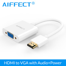 AIFFECT HDMI to VGA Adapter Converter hdmi vga connector 1080P With Audio for Xbox 360 PS3 PS4 PC Laptop TV Box Projector
