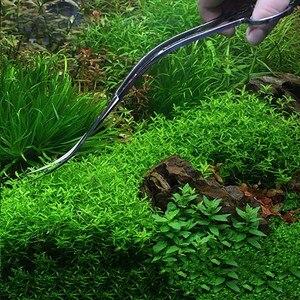Image 2 - Professionale Aquarium Fish Tank Pianta Acquatica di Pulizia Strumenti di Pinze a Forbice In Acciaio Inox Lungo Onda scissor curvo Forniture Per Animali Da Compagnia