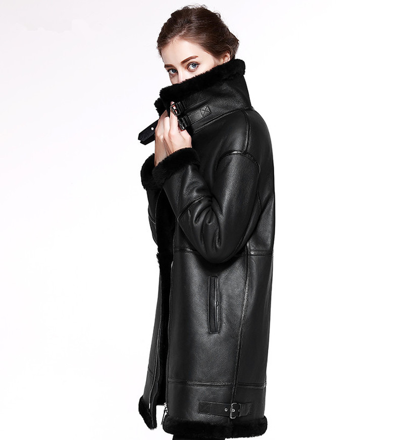 2019, двусторонняя меховая верхняя одежда, зимняя куртка, Женская длинная парка, натуральная кожа, Мериносовая овчина, натуральный мех, пальто с капюшоном, уличная одежда, новинка