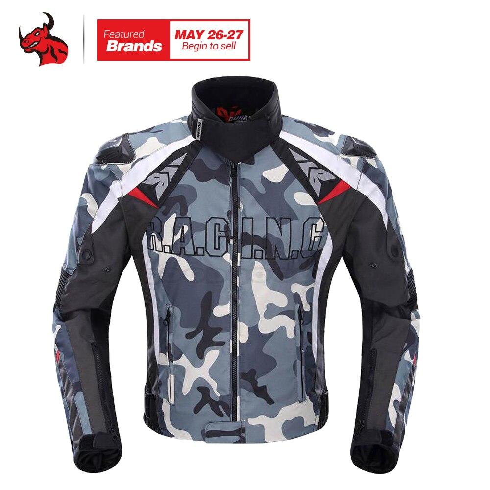 Духан Для мужчин Оксфорд ткань мотоциклетная куртка Мотокросс гонки по бездорожью Куртка камуфляж охранников Костюмы Блузон мото