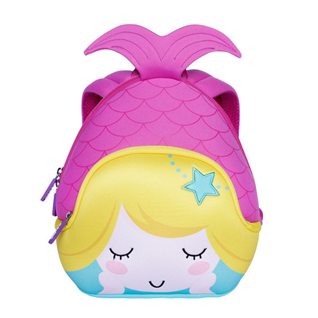 NOHOO Cartoon Mermaid Backpack for Girls