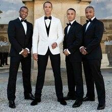 Latest Coat Pant Designs White Mens Suits Man Blazers Groom Groomsmen Wedding Tuxedos Peaked Lapel Bridegroom Wear 3piece Prom