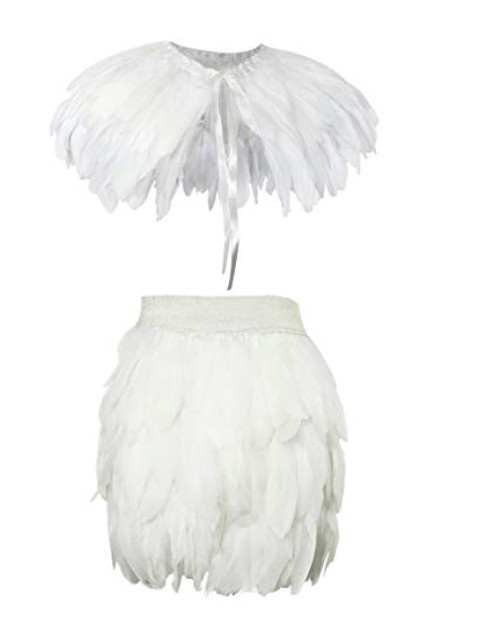 Women Girls baby fur coat Hallowee Stole Shawl skirt Swan Feather Skirt Fully Feather Skirt set Party Event plumage plume SkirtWomen Girls baby fur coat Hallowee Stole Shawl skirt Swan Feather Skirt Fully Feather Skirt set Party Event plumage plume Skirt
