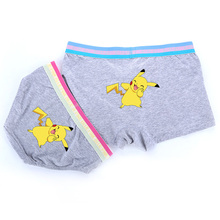 Pokemon Pikachu Couple set Men's Boxer Lady Triangle Breathable Underwear
