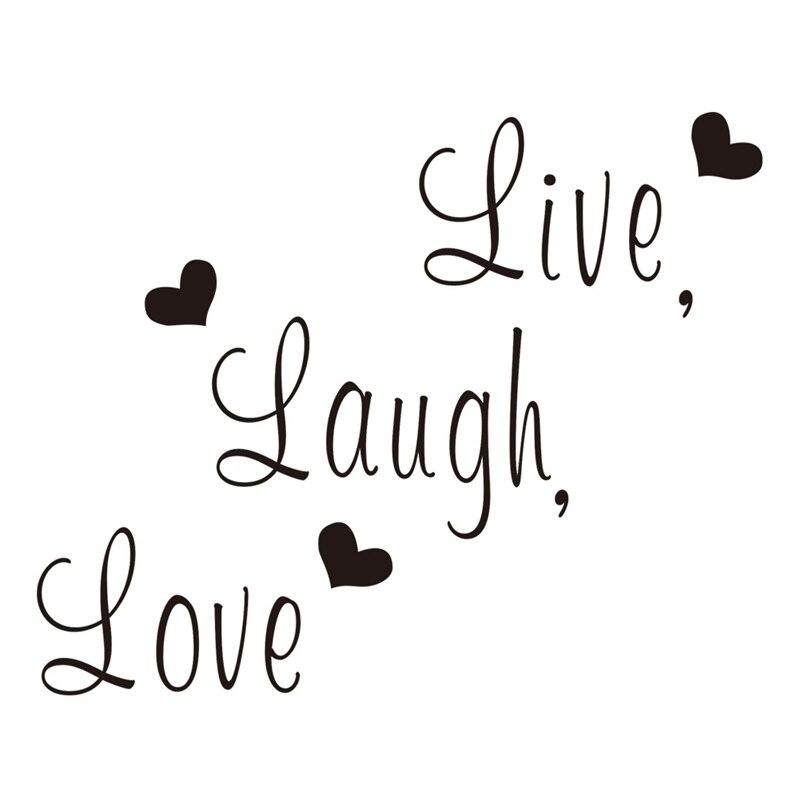 Live Laugh Love Quotes Muurstickers Woonkamer Decoratie Thuis Decals