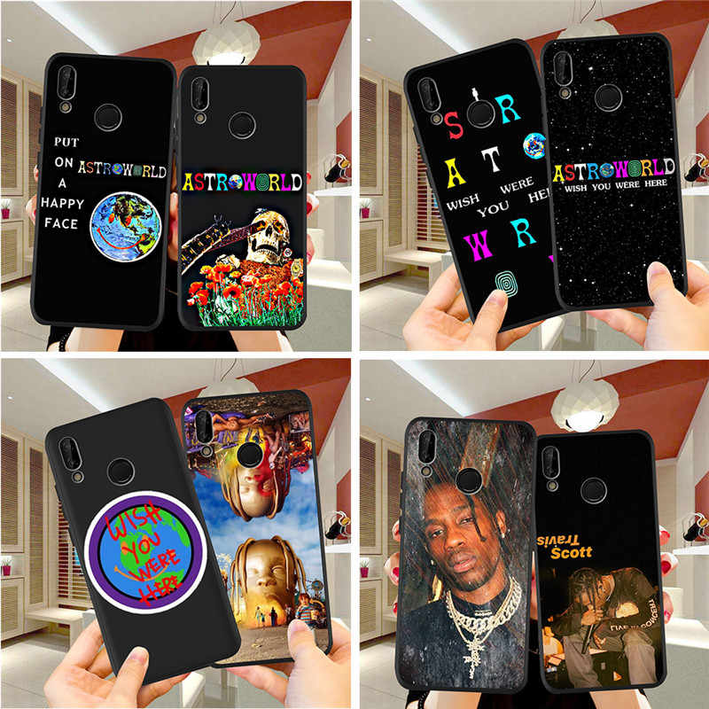 travis scott astroworld For Huawei P8 P10 P20 P30 Mate 10 20 Honor 8 8X 8C 9 V20 20i 10 Lite Plus Pro Case Cover Coque Etui capa