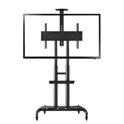 "Aluminum Alloy NB AVA 1800-70-1P TV Mobile Cart Free Lifting 55""-80"" LED LCD Plasma TV Trolley Stand With AV Shelf Camera Holder"