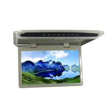 HD 15.6 inches 12V LED Digital Screen Overhead Monitor Car Roof Mounted Monitor Flip Down Monitor 1920*1080 AV USB SD HDMI TF FM