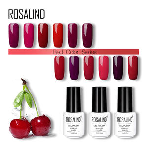 ROSALIND Gel Nail Polish Cherry Red Colors 7ml UV&LED Gel Varnish Soak Off Primer Nail Art Gel Lacquer For Nails Manicure