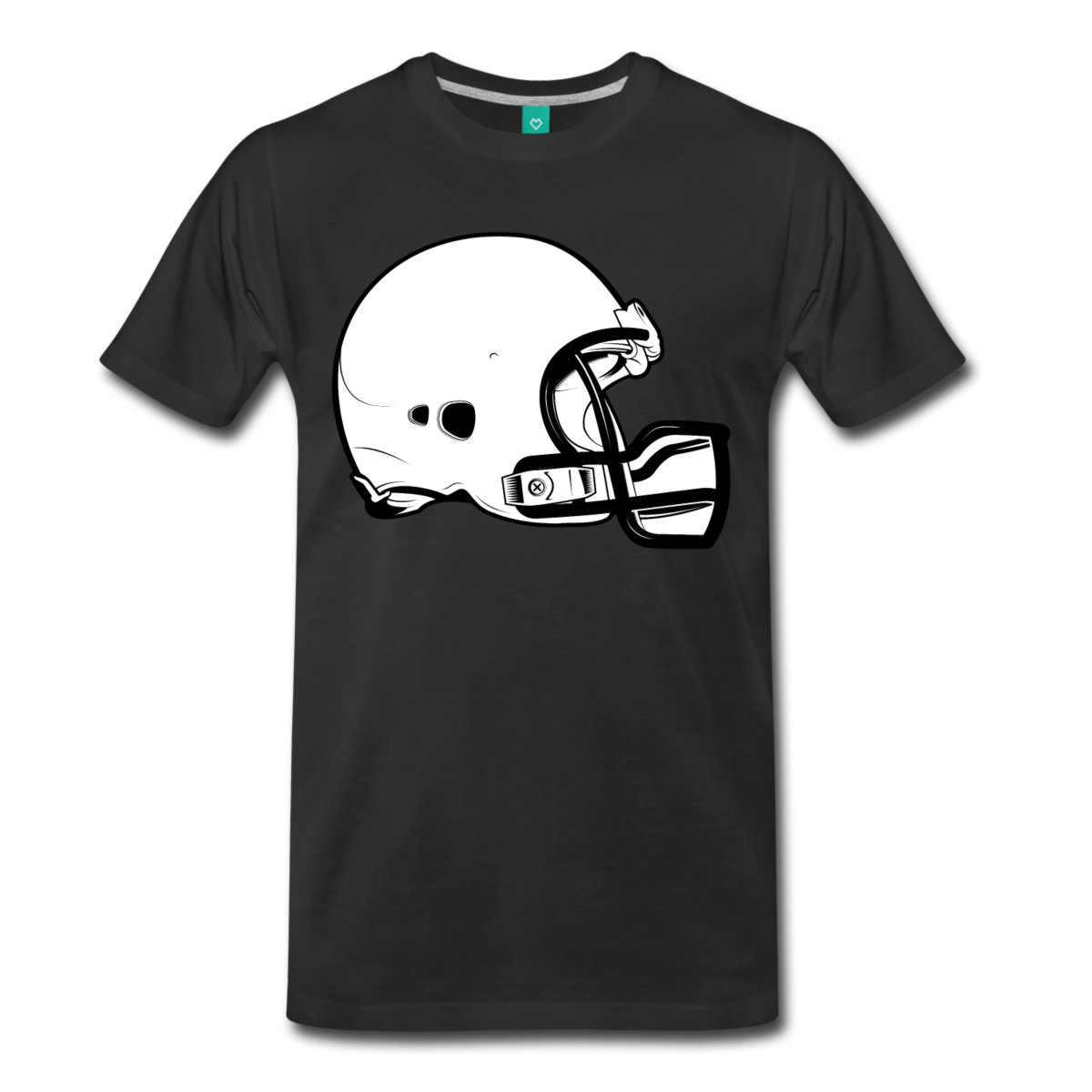 Footballer Helmet Mens T-Shirt Short Sleeve Summer Style Printed T-Shirt Pure Cotton Men Short Sleeve T Shirt Funny Print