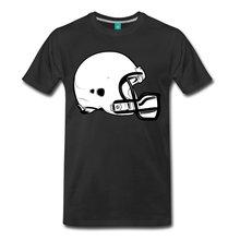 Football Helmet Mens T-Shirt Short Sleeve Summer Style Printed Pure Cotton Men T Shirt Funny Print