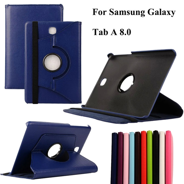 For Samsung Galaxy Tab A 8.0 T350 T355C P350 P350C Case 360 Rotating PU Leather Stand Case Cover