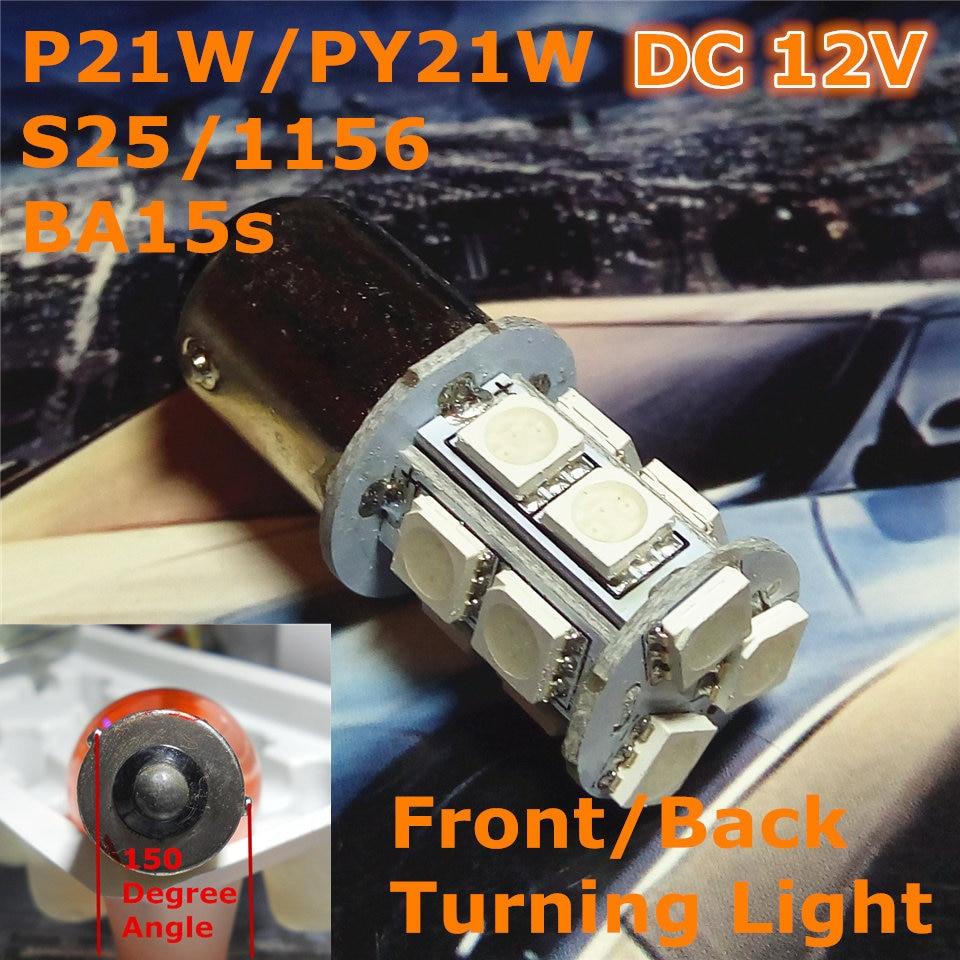 12V LED 차 한가한 전구 램프 P21W S25 / 1156 BA15s 도는 - 자동차 조명 - 사진 1