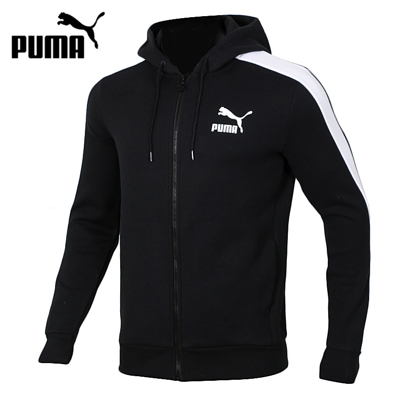 Original New Arrival  PUMA T7 Men's Hooded Knitted Running Jacket