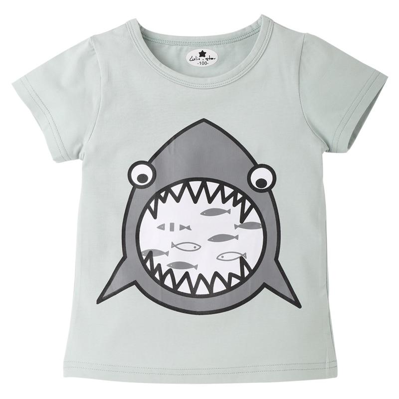 Original single summer new children 39 s clothing T shirt cotton round neck boys and girls cartoon children in T Shirts from Mother amp Kids