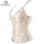 Frete Grátis Sexy & New Gótico Jacquard das Mulheres Correias de Cintura de Cetim Overbust Espartilho Bustier Com Zipper Side S-6XL Corset