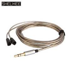 SHELKEE High quality upgrade audio cable cord Line For Sennheiser IE80/IE8/IE8I earphone Cable With Mic Volume Control gold 8 core 2 5 4 4 balanced pure silver plated copper earphone cable for sennheiser ie8 ie80 ie800 ie8i ln006101