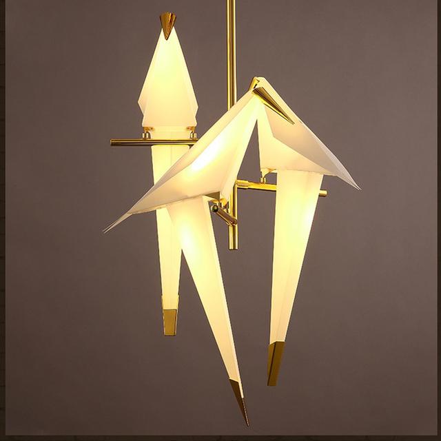 Modern love bird led light bar romantic style light restaurant creative dining room Ceiling lights for bedroom