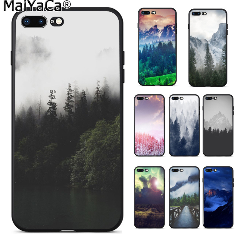 MaiYaCa Forest Cloud Pattern Colorful Cute Phone Accessories Case for Apple iPhone 8 7 6 6S Plus X XS MAX 5 5S SE XR Cellphones