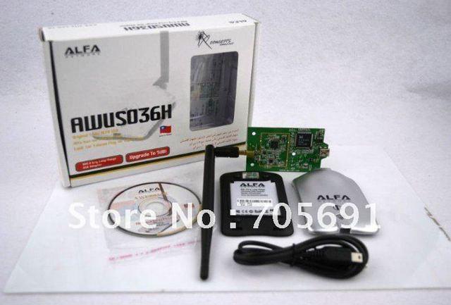 Free shipping   UAE DUBAI  SPECIAL PRICE  high power alfas USB WIFI ADAPTER with 5dbi antenna