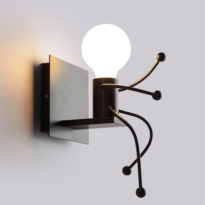 modern creative cartoon led wall lamps children room wall light bedroom bedside wall sconce cute diy - Wall Lamps For Bedroom