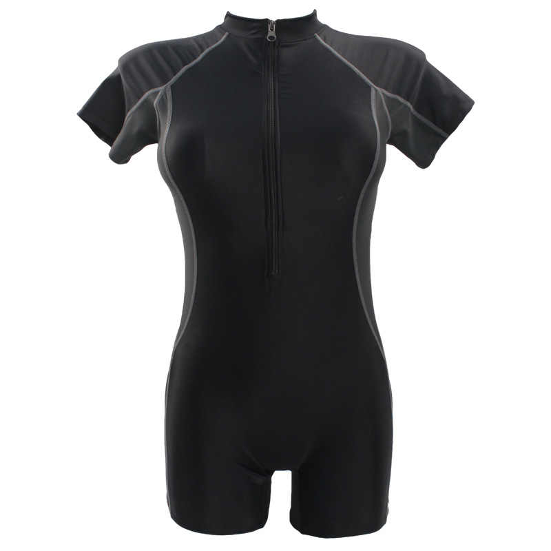 Seabbot Swimsuit One Piece Baju Renang Olahraga Profesional Leher Lutut Kompetisi Ritsleting Baju Renang Seksi Baju Balap Wanita 81103