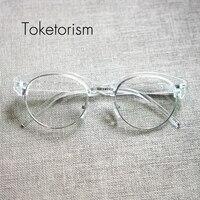 Toketorism רטרו קלאסי משקפיים נקה עדשות משקפיים חצי מסגרת מתכת gafas נשים גברים W5188