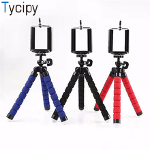 Tycipy Flexible Sponge Octopus Tripod Mini Phone Holder Stand for iPhone Smartphone Samsung Xiaomi Huawei Mobile Phone Hot Sale mini flexible sponge octopus tripod for iphone samsung xiaomi huawei smartphone tripod stand holder for gopro camera dslr mount