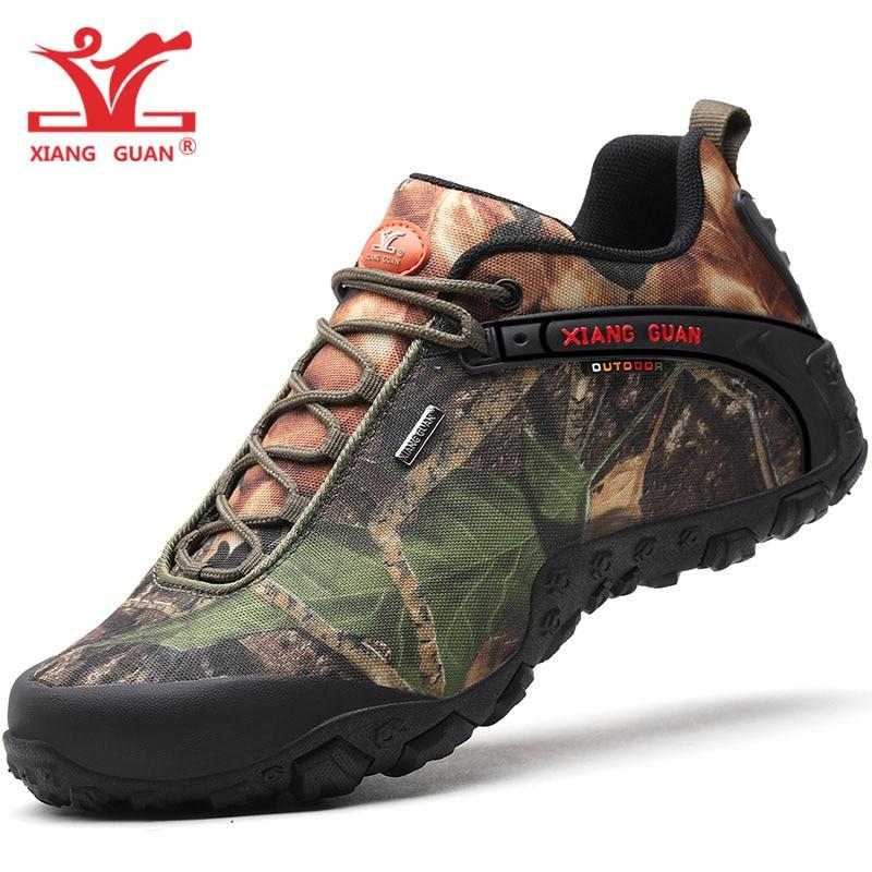 2019 hommes chaussures de randonnée pour femmes imperméable Trekking bottes unisexe Camouflage Sport montagne escalade chaussure en plein air marche Sneaker