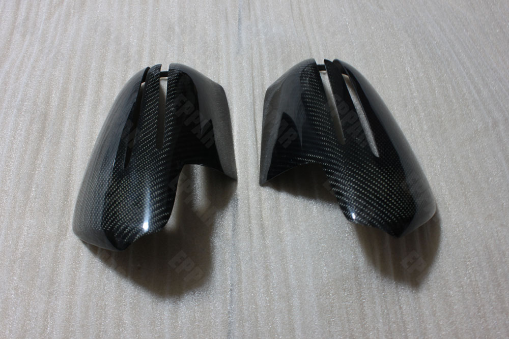 Real Carbon Fiber Overlay Mirror Covers for 2008-2010 <font><b>Mercedes</b></font>-Benz W219 W207 E Coupe W219 CLS R171 SLK <font><b>R230</b></font> <font><b>SL</b></font> image