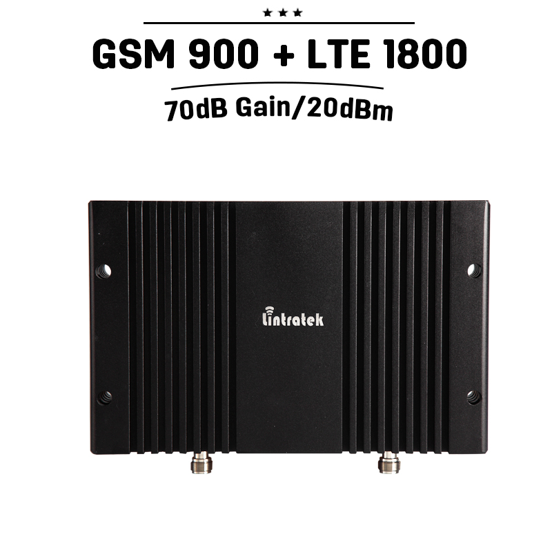 Professional 70dB Gain GSM 900 4G LTE 1800 Band 3 Dual Band Repeater Booster GSM 900mhz 4G 1800mhz Mobile Phone Signal Amplifier