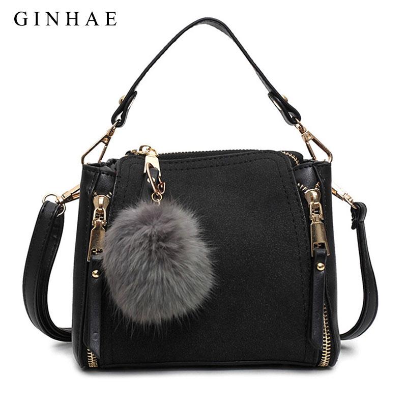 Luxury Women Pu Leather Tote Bag Female Zipper Handbags New Fashion Ladies Small Messenger Bags Vintage Solid Suede Bolsos Mujer цены