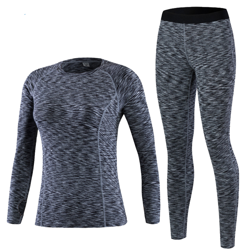 2019 New Thermal Underwear Women Winter Quick Dry Anti-microbial Stretch Thermo Underwear Sets Female Warm Long Johns Female