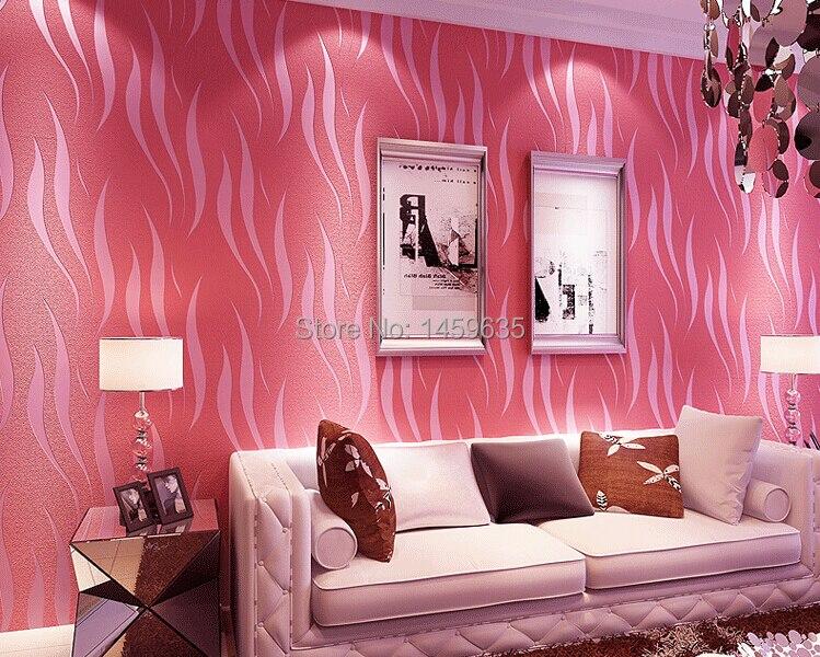 US $33.84 6% OFF|Moderne Solid Kurve Muster Tapete 3D Wandbild Wandtattoos  Frische Textil vlies Schlafzimmer Tapeten Sofa Wand Papier-in Tapeten aus  ...