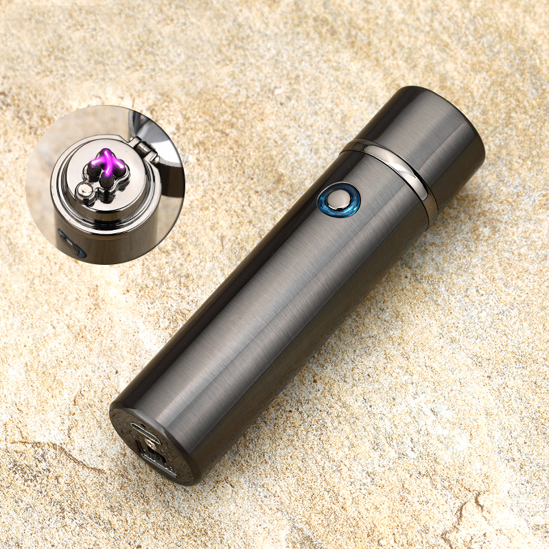 2017 New Electric Double Pulse Arc Lighter Tobacco Pipe USB Lighter Smokeless Windproof