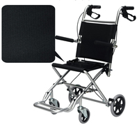 Lightweight Folding Travelling And Airport Wheelchair For Children And Elderly With Seat Width 36cm Or 41cm