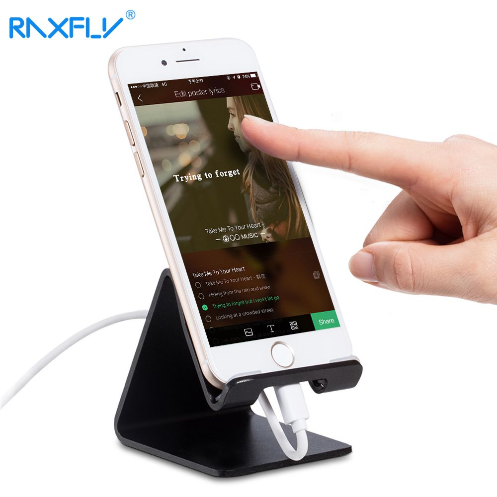RAXFLY Telefonholder For iPhone X 8 8 Plus iPad Universal Aluminium Metal Tablet Tablet Telefonholder for Samsung S8 S9 Plus Holdere