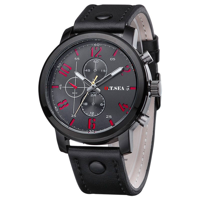 Cool Fashion Top Brand Luxury Military Watch Men Leather Sport Quartz Watch Male Casual Wristwatch Clock Relogio Masculino mens watch top luxury brand fashion hollow clock male casual sport wristwatch men pirate skull style quartz watch reloj homber