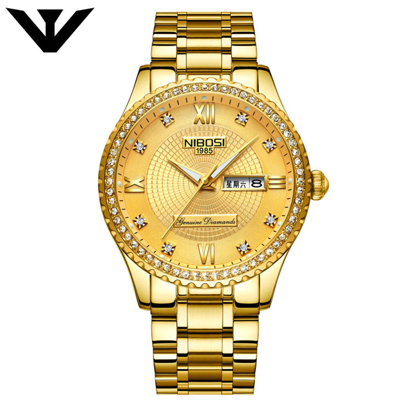 Cute Nibosi Mens Watches Top Brand Car Hire Stainless Steel Quartz Wach Men Army Military Sport Watche Nibosi New Style Men's