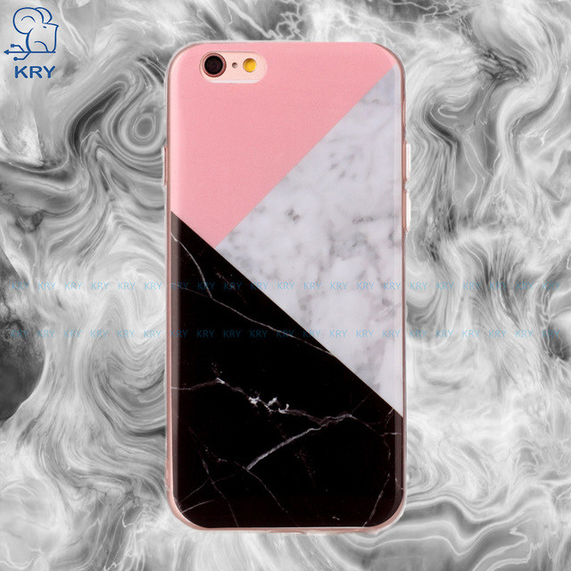 "KRY Marble Texture Phone Cases for iphone 6 Case Soft TPU ShockProof Cover For iphone 6s Cases 4.7"" Back Protective Capa Coque"