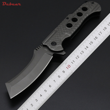 Dcbear New High Quality Folding Blade Knife With 440C Steel Blade All Steel Handle Outdoor Tactical Hunt Camping Knives EDC Tool