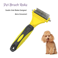 Dog Brush Rake Double Side Dematting Matbreaker Cat Rake Deshedding Trimmer Pet Grooming Fur Shaver Grooming