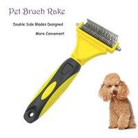 Dog Brush Rake Double Side Dematting Matbreaker Cat Brush Comb Rake Deshedding Trimmer Pet Grooming Fur
