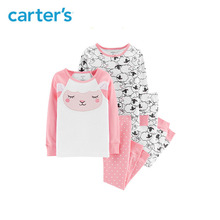 Carter's 4-Piece Sheep Snug Fit Cotton Pajamas Autumn winter cute sheep sleepwear pajamas set for girls clothes 24923012