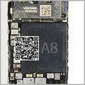 2 pçs/lote para iphone6 para iphone 6 plus grande principal cpu a8 a8 u0201 chip