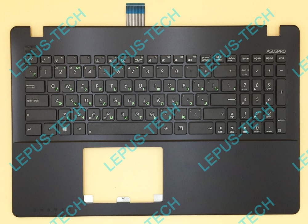 Russian RU plamrest Keyboard for ASUS X550 K550V Y582 X552 A550 Y581 F550 black